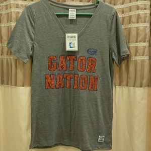 Victoria's Secret pink Gator Nation bling t-shirt